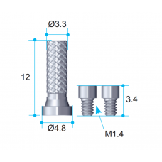 Временный цилиндр AnyOne для изготовления временных конструкций из акрила