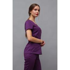 """Блуза медицинская женская """"Альфа"""" ,цвет фиолетовый"""