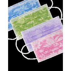 Защитные маски Monoart Floral 3-х слойные, 50 шт./уп.